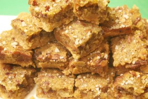 Toffee-Ginger Nut Squares